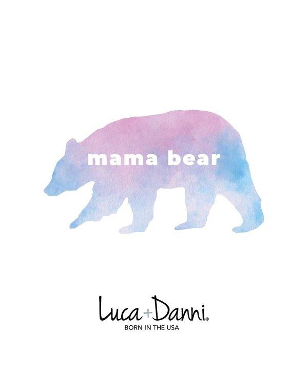 Mama Bear Bangle Bracelet in Silver