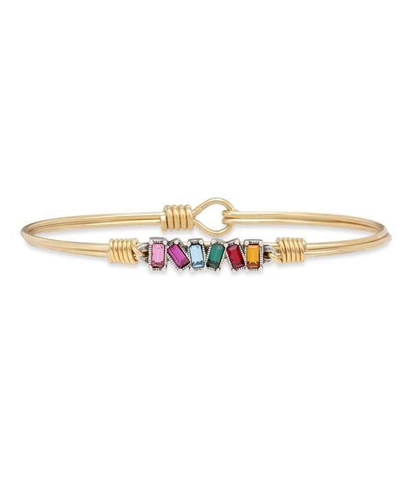 Mini Hudson Bangle Bracelet Ombre in Gold