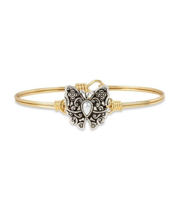Butterfly Bangle Bracelet in Gold