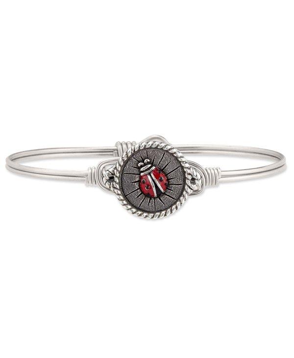 Ladybug Bangle Bracelet in Silver