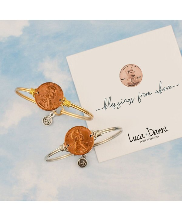 Heavenly Pennies Bangle Bracelet in Gold