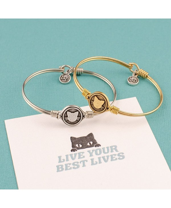 Meow Bangle Bracelet in Gold