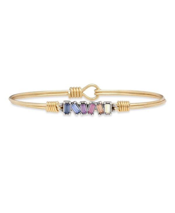 Mini Hudson Bangle Bracelet Light Ombre in Gold
