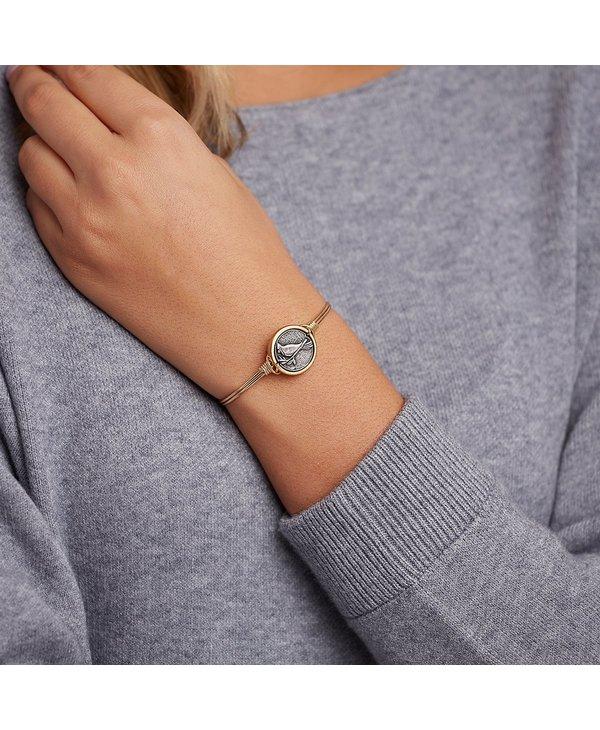 Cardinal Bangle Bracelet in Silver