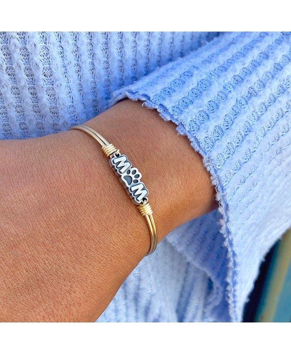 Fur Mom Bangle Bracelet in Gold