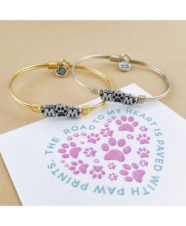 Fur Mom Bangle Bracelet in Silver