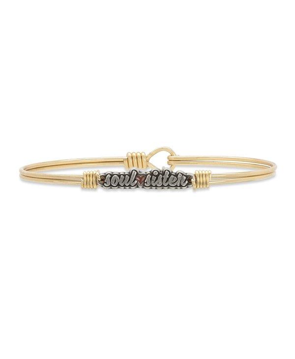 Soul Sister Bangle Bracelet in Gold