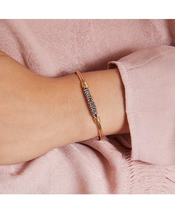Soul Sister Bangle Bracelet in Silver