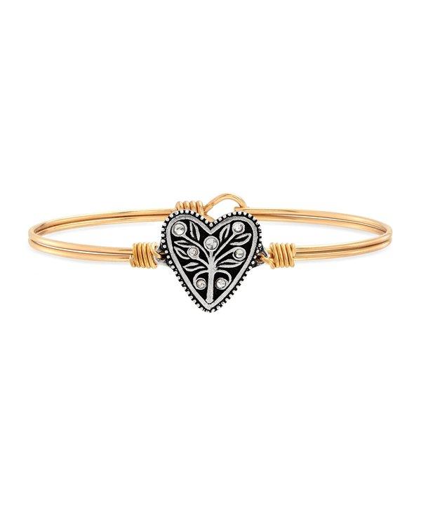 Tree of Life Bangle Bracelet in Gold