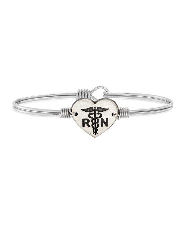 Nurse Bangle Bracelet in Silver