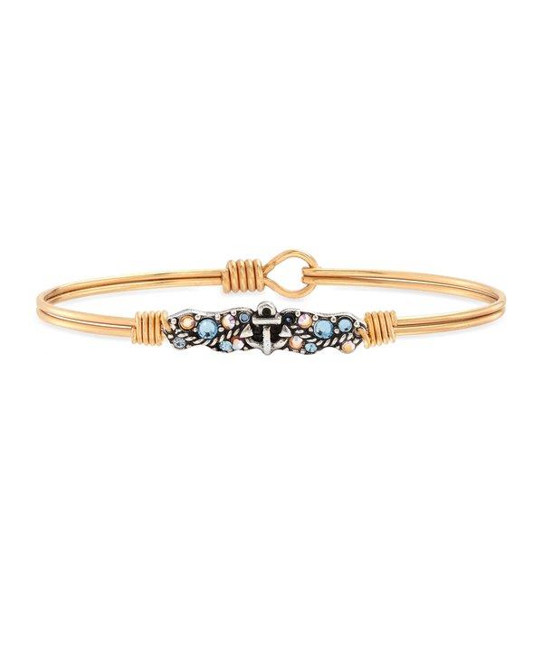 Anchor Medley Bangle Bracelet in Gold