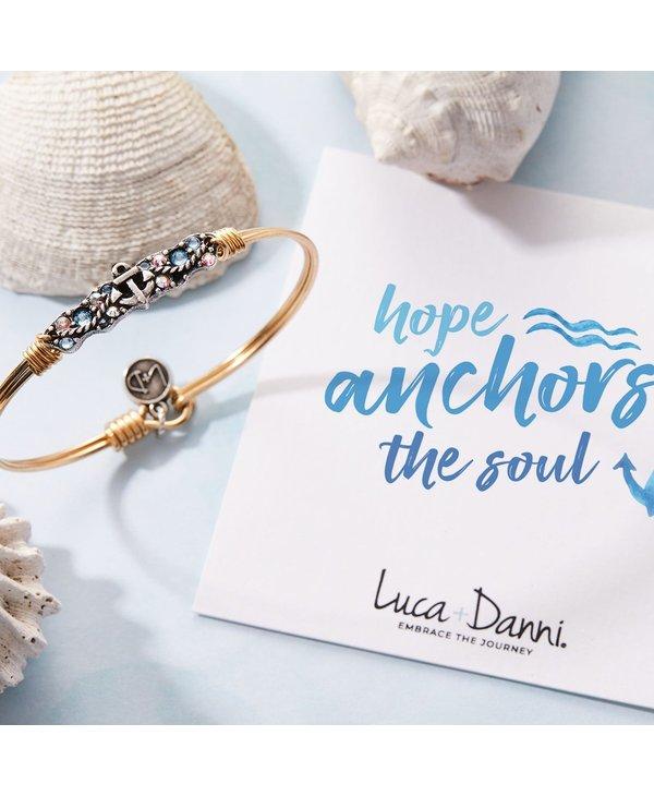 Anchor Medley Bangle Bracelet in Silver