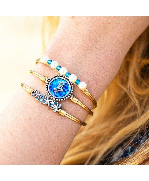 Starfish Medley Bangle Bracelet in Gold