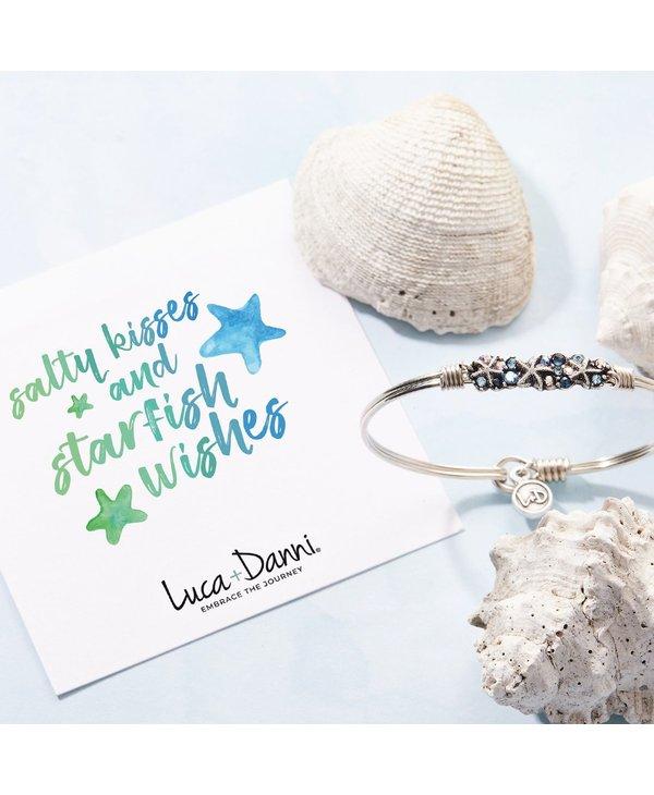 Starfish Medley Bangle Bracelet in Silver