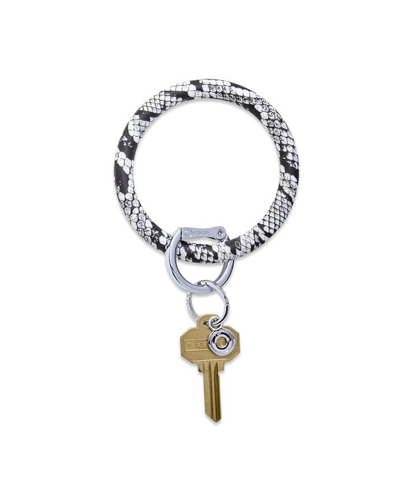 Silicone Big O Key Ring in Tuxedo Snakeskin