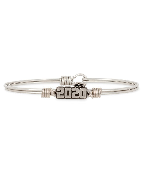 2020 Graduation Bangle Bracelet in Silver