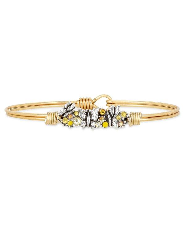 Butterfly Medley Bangle Bracelet in Gold
