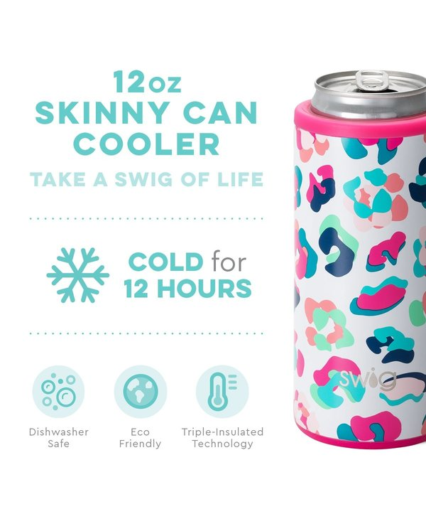 12oz Skinny Can Cooler in Party Animal