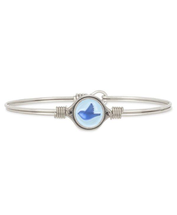 Bluebird Bangle Bracelet in Silver
