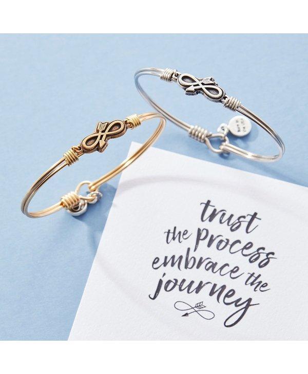 Embrace the Journey Bangle Bracelet in Gold