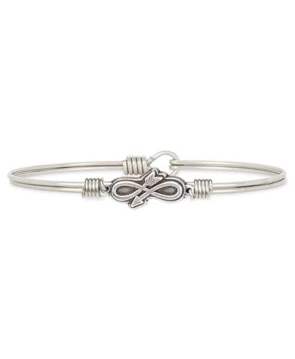 Embrace the Journey Bangle Bracelet in Silver