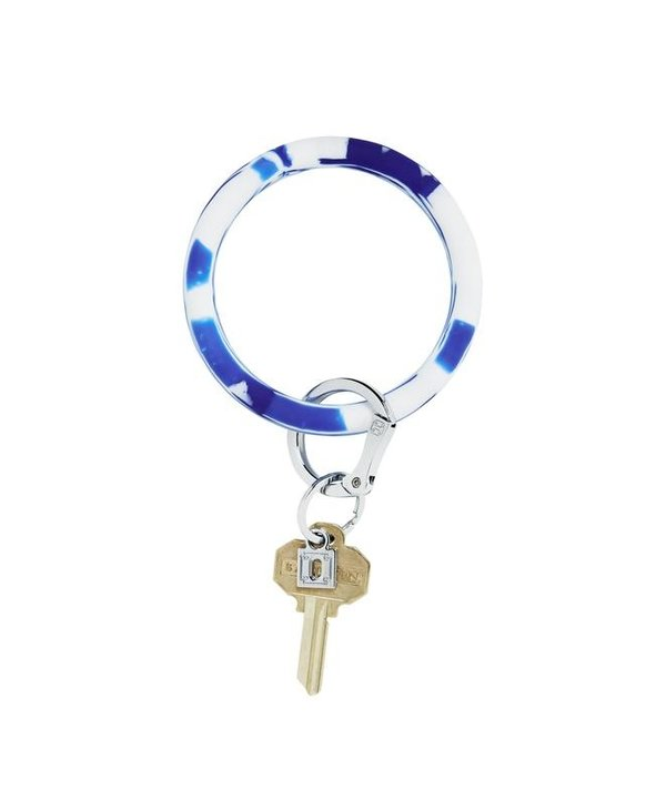 Silicone Big O Key Ring in Blue Me Away Marble