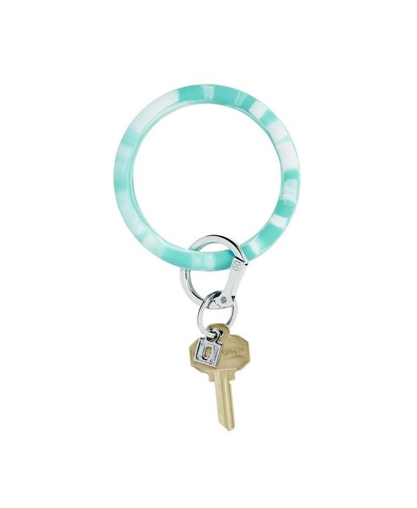 Silicone Big O Key Ring in In The Pool Marble