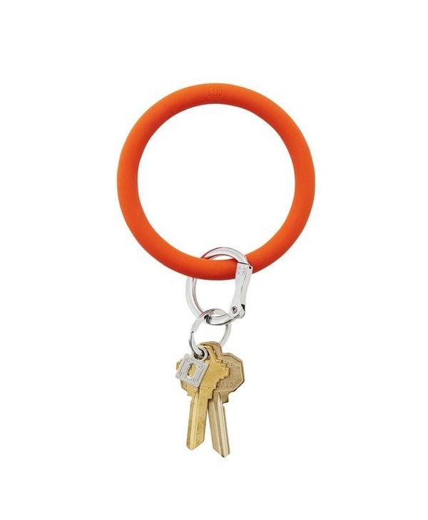 Silicone Big O Key Ring in Orange Crush