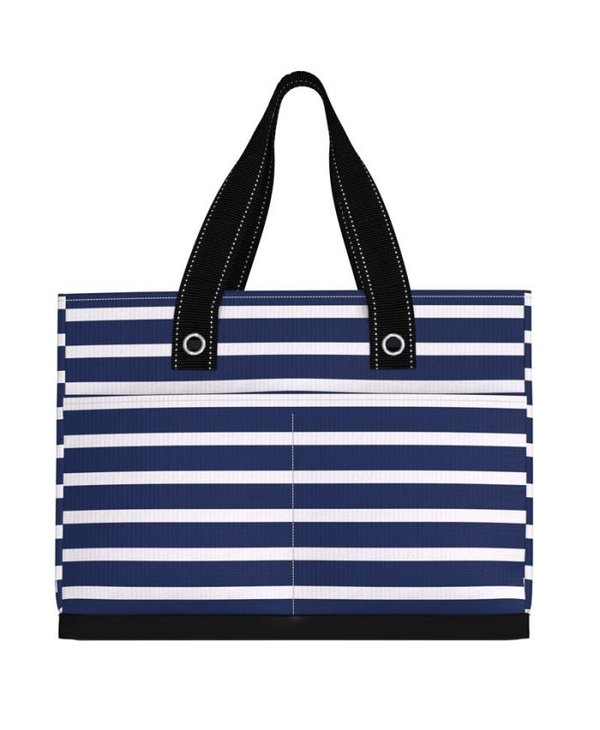 Uptown Girl Pocket Tote Bag in Nantucket Navy