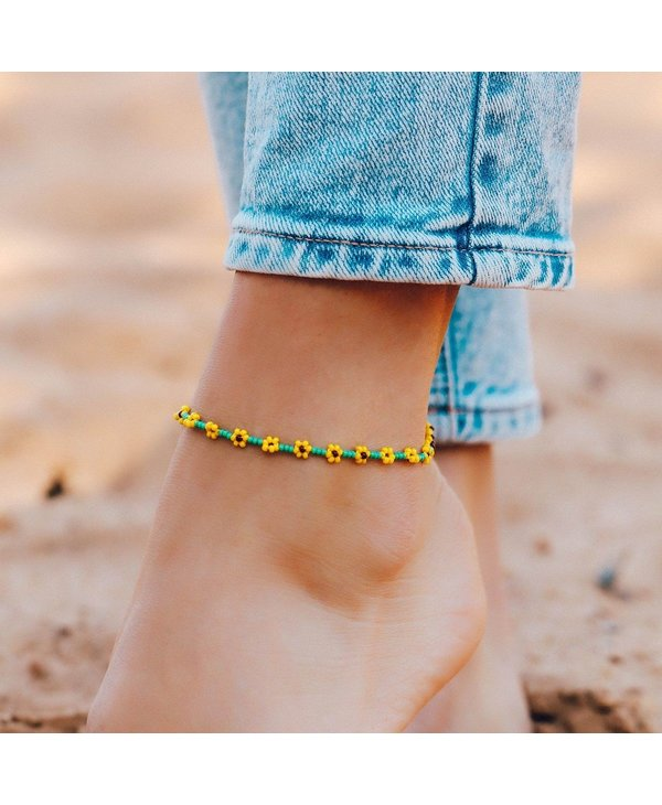 Sunflower Seed Bead Anklet