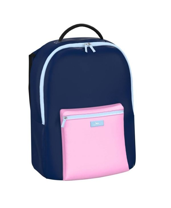 Pack Leader Backpack in Block Party Navy & Pink