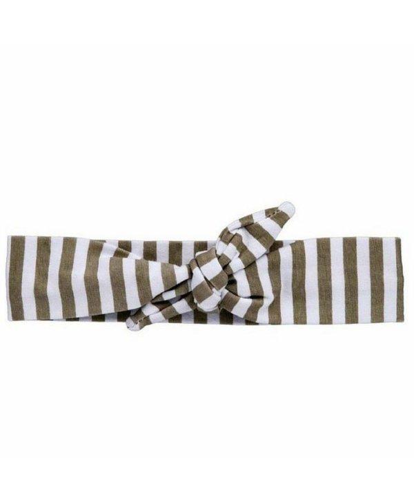 Grey Striped Knotted Headband