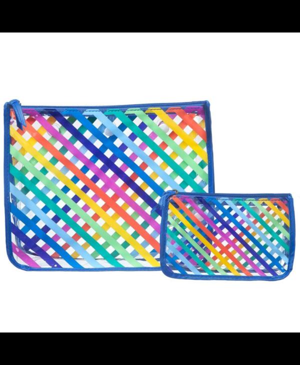 Stripes Decorative Insert Bags (Set of 2)
