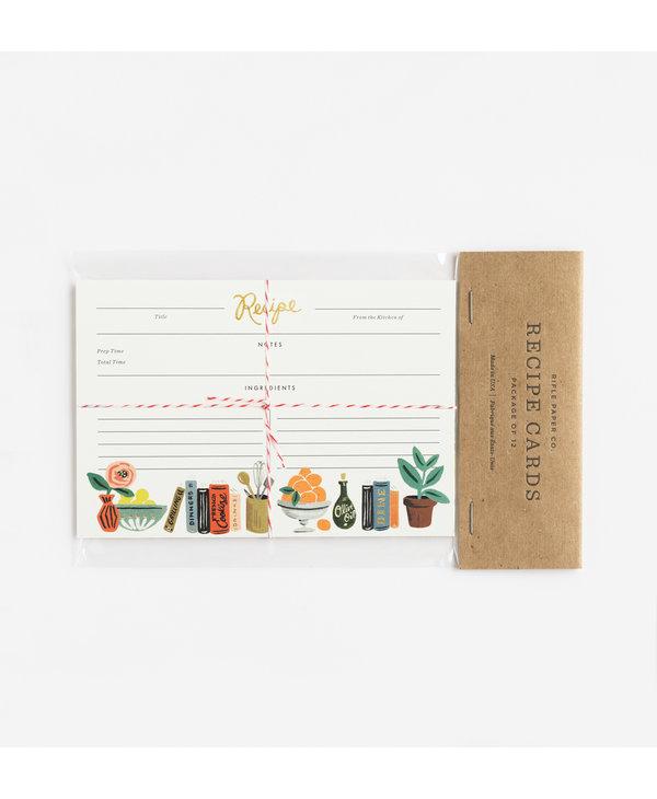 Recipe Cards in Kitchen Shelf