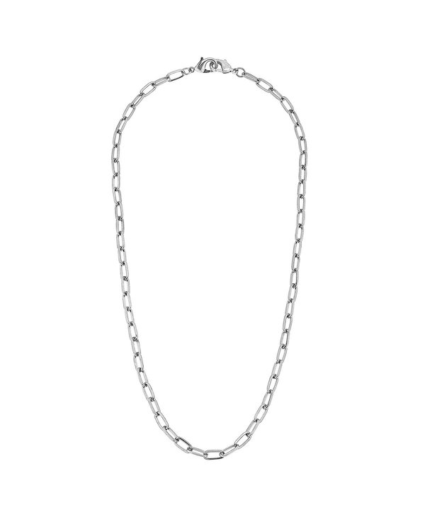 """Soleil Medium Paperclip 20"""" Chain Mask Necklace in Silver"""