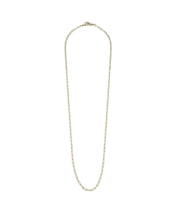 """Soleil Small Paperclip 32"""" Chain Mask Necklace in Gold"""