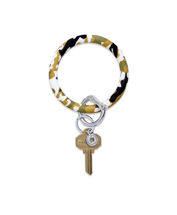 Silicone Big O Key Ring in Camo