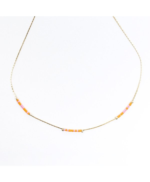 Love Hope Cure Morse Code Necklace in Gold