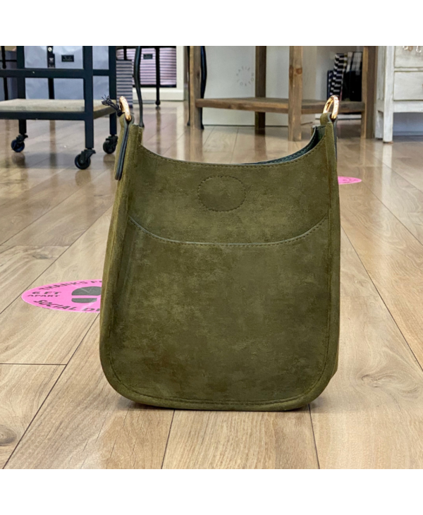 Army Mini Suede Messenger Bag - Gold Hardware