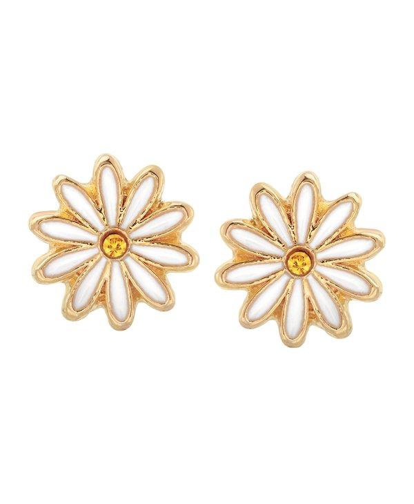 Daisy Stud Earrings in Gold
