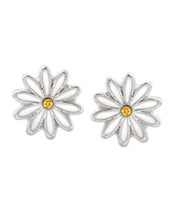 Daisy Stud Earrings in Silver