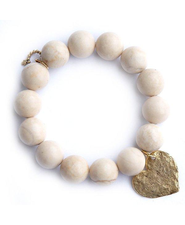 Hammered Gold Heart Bracelet