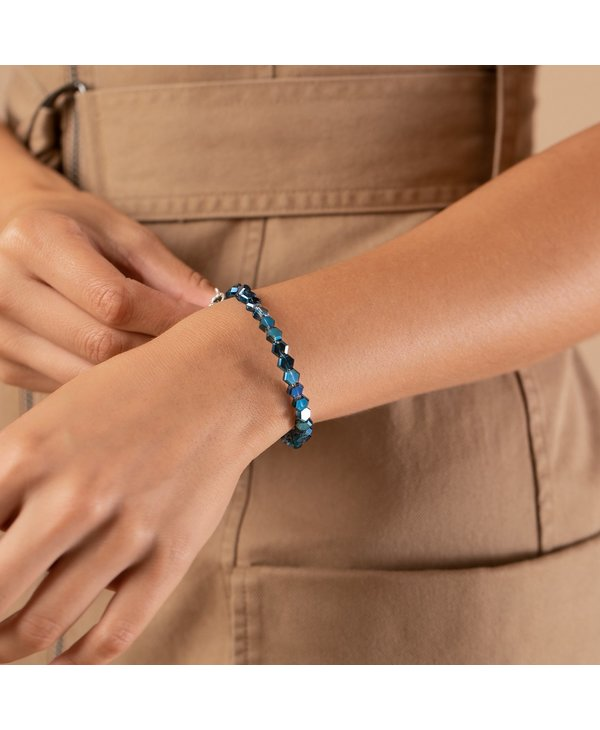 Sapphire Pixie Beaded Wrap Bracelet