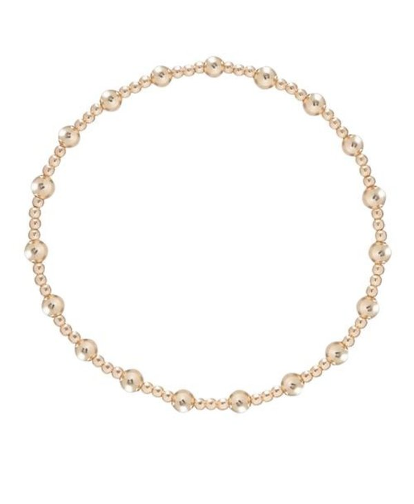 Classic Sincerity Gold Bracelet in 4mm Beads