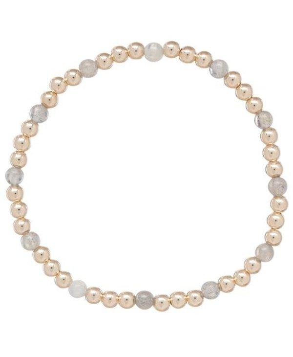 Sincerity Gold Bracelet in Labrodite