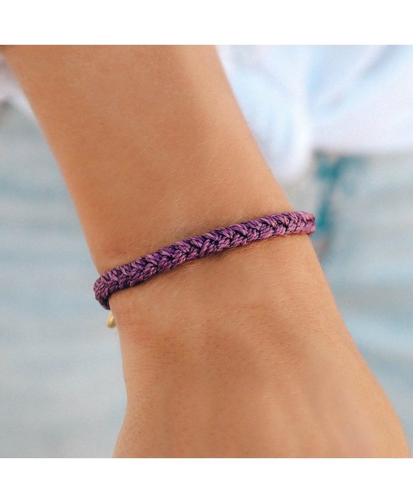 Dark Lilac Solid Braided Bracelet