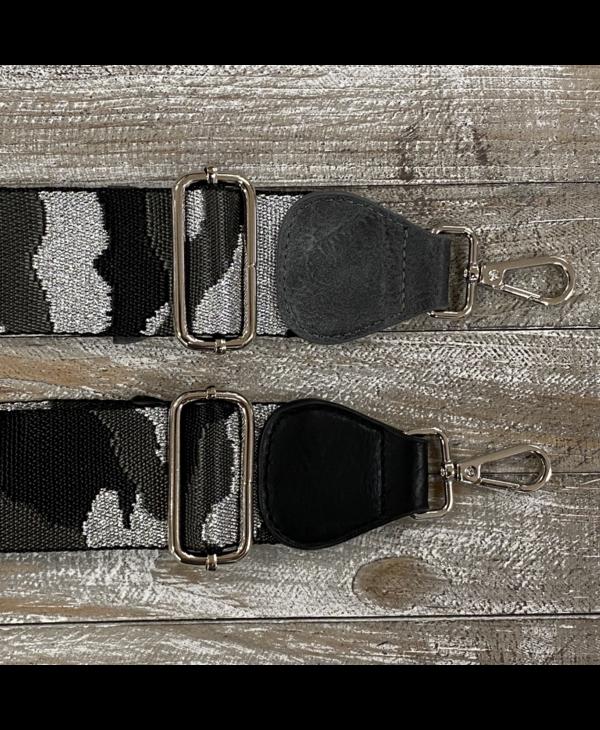 Vegan Leather End Bag Strap - Silver Hardware