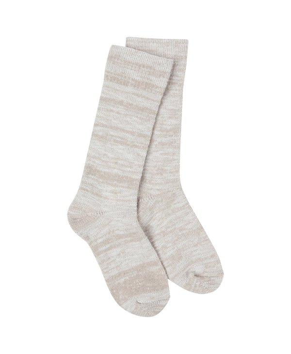 Light Slub Crew Sock in Oatmeal