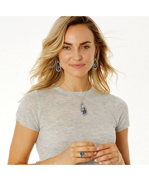 Elora Gems Vitrail Pendant Necklace