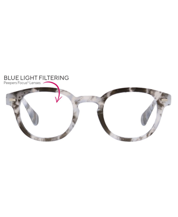 Quarry Blue Light Reader in Gray